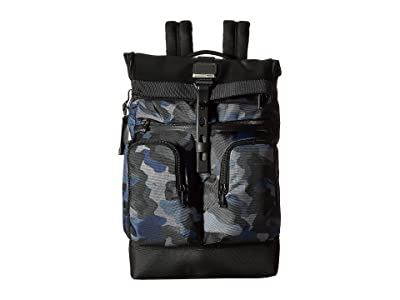Tumi Alpha Bravo London Roll-Top Backpack (Camo) Backpack Bags