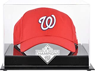 Washington Nationals 2019 World Series Champions Acrylic Logo Cap Display Case - Baseball Hat Free Standing Display Cases
