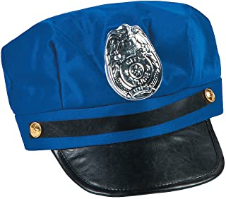 Fun Express - Police Hat - Apparel Accessories - Hats - Novelty Piece Hats - 1 Piece