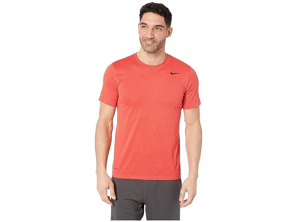 Nike Legend 2.0 Short Sleeve Tee (Light University Red Heather/Black) Men