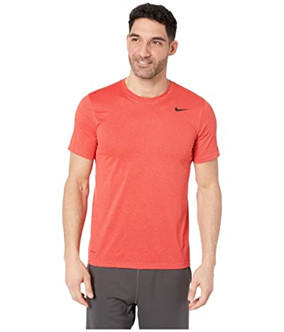 Nike Legend 2.0 Short Sleeve Tee (Light University Red Heather/Black) Men