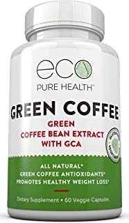 Green Coffee Bean Extract — Pure Natural Appetite Suppressant — 50% Chlorogenic Acid — by Eco Pure Health