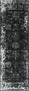 Unique Loom 3137801 Sofia Collection Traditional Vintage Beige Area Rug, 2' x 7' Runner, Black