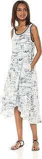 Jones New York Women's Slvlss Printed Linen Hi Lo Hem