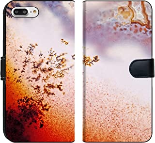 MSD Premium Phone Case Designed for iPhone 8 Plus and iPhone 7 Plus Flip Fabric Wallet Case Image ID: 24171559 Jewelry and Decorative Stone Moss Agate Macro Raw Rough Plate Ka