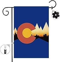 Bonsai Tree Colorado Seasonal Burlap Garden Flag Banner Decorative Outdoor Double Sided Yard Flag 12 x 18 Prime