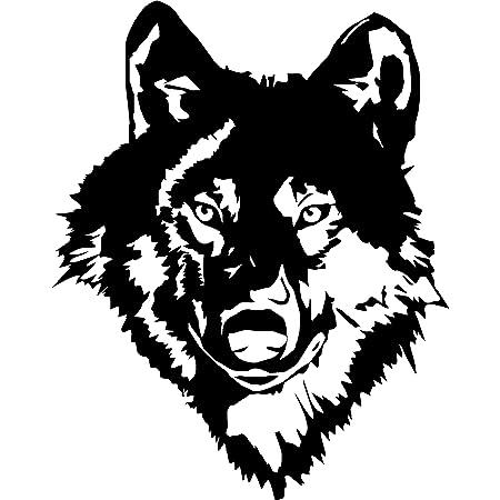 Autoaufkleber Wolf-Mode Auto Tattoo Wand Tattoo 10x10 cm
