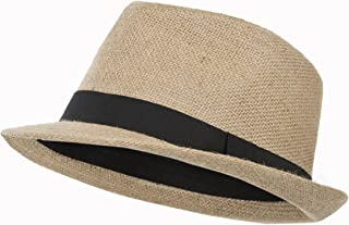 Trespass Fedora, Natural, Hat with Ribbon Detail Adult Unisex, Beige