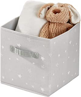 iDesign Arrow Fabric Storage Cube Bin, Small Basket Container with Dual Side Handles for Closet, Bedroom, Toys, Nursery, M...