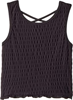 Smocked Tank Top with Crisscross Back (Big Kids)