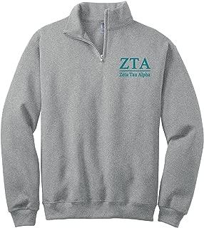 Zeta Tau Alpha Quarter Zip Pullover Sweatshirt