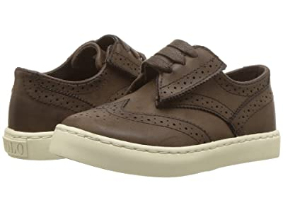 Polo Ralph Lauren Kids Alek Oxford EZ (Toddler/Little Kid) (Chocolate Burnished Tumbled) Boy