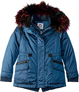Extra Soft Lined Middie Puffer Coat Faux Fur Hood (Toddler/Little Kids/Big Kids)