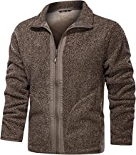 $41 » Letdown Accessories Men Fleece Jackets Full Zip Winter Warm Solid Color Big and Tall Loose Heavyweight Performance Jacket