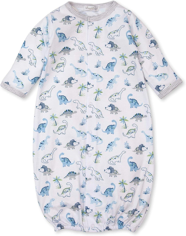 Kissy Kissy Baby-Boys Infant Happy-Saurus Print Convertible Gown