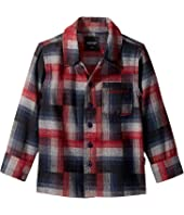Brody Button Up Long Sleeve Flannel Shirt (Toddler/Little Kids/Big Kids)