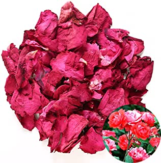 TooGet Dried Natural Real Red Rose Petals Organic Dried Flowers Wholesale Best for Wedding Party Decoration, Bath, Body Wa...
