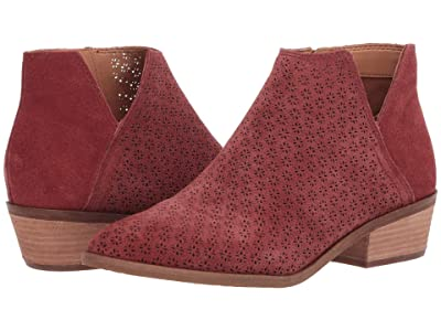 FRYE AND CO. Caden Perf Bootie (Light Burgundy Suede) Women