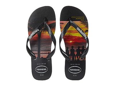 Havaianas Hype Flip Flops (Black) Men