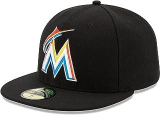 BONE 5950 MIAMI MARLINS MLB ABA RETA PRETO NEW ERA 9c224daa49f