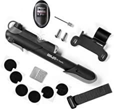Mini Bike Tire Pump - Tire Pump Kit which Attaches to Bike Frame for Puncture Repairs   120 PSI Air Pump   RV Compact Tire Pump   Simple to Use   A Must Have Bike Accessory for Sport Mountain Bike