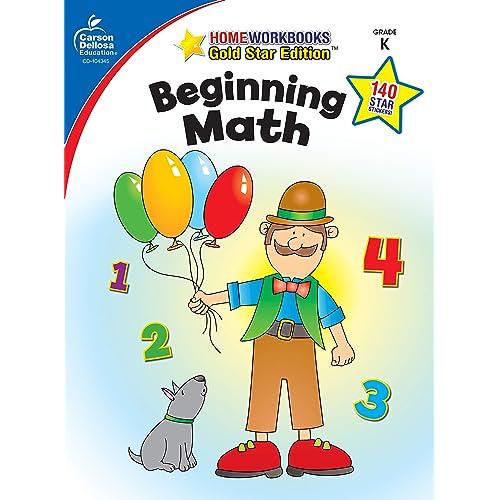 Carson Dellosa   Beginning Math Workbook   Kindergarten, 64pgs (Home Workbooks)