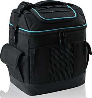 MIER 2 Compartment Cooler Bag Tote Large Insulated Lunch Bag for Picnic, Grocery, Kayak, Car, Travel, 24 Can, Black