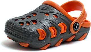 Phedarus Comfortable Clogs/Sandals for Boys - Grey & Orange (PH1216ARROW-GreyOrg-34NW, 2)