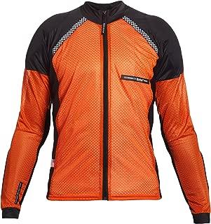 Bohn All-Season Airtex Armored Riding Shirt - Orange/Black - Medium