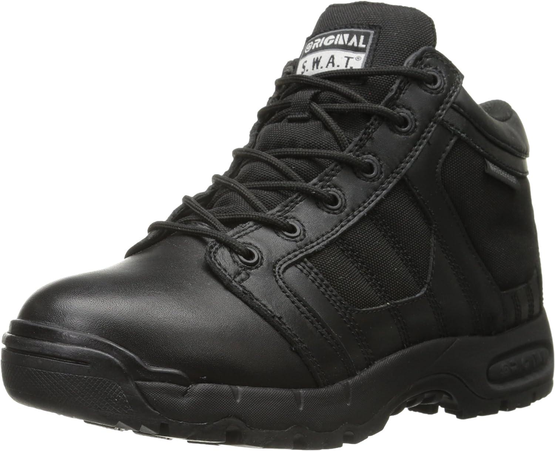 Original S.W.A.T......... Men's Metro Air 5  Waterproof Side-Zip Men's Black Military & Tactical Boot, Black