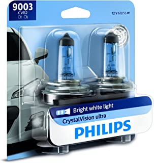 Philips 9003 CrystalVision Ultra Upgrade Bright White...