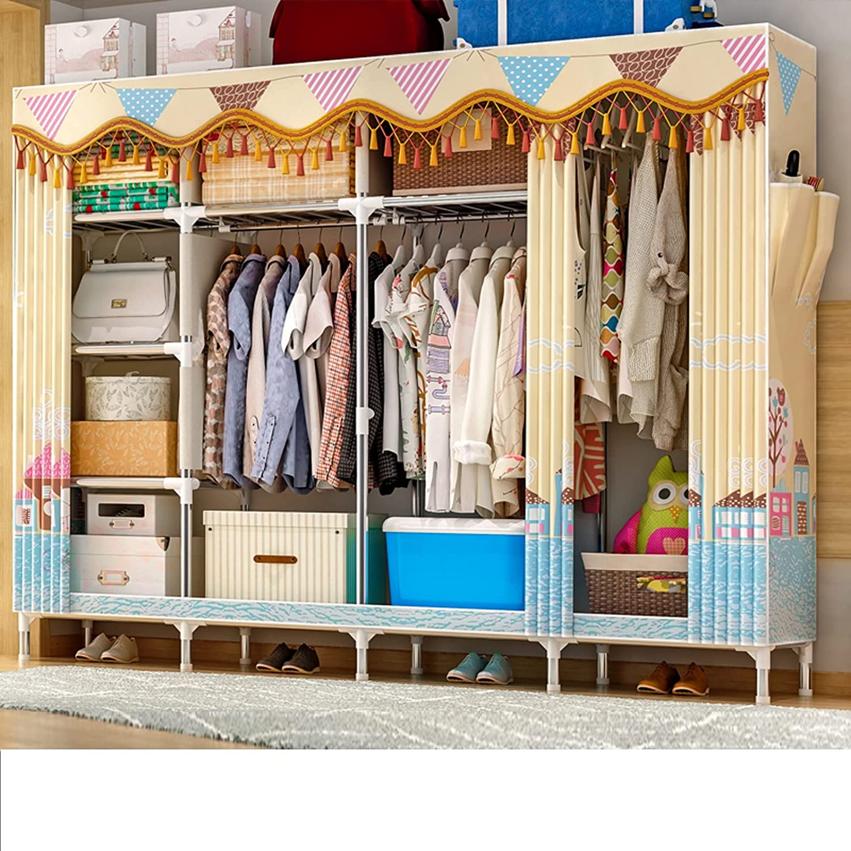 JYXJJKK Simple Free shipping Fabric Jacksonville Mall Wardrobe As Multi-Functional Home