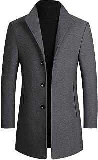ODFMCE コート メンズ ロング ジャケット 秋冬 ウール チェスターコート 中綿 防寒 厚手 ビジネス 大きいサイズ