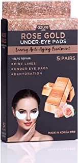 Rose Gold Luxury Under Eye Anti-Aging Treatment – Reduces Fine Lines and Wrinkles | Lifts and Smooths Delicate Eye Area | Tones and Moisturizes – 5 Pairs
