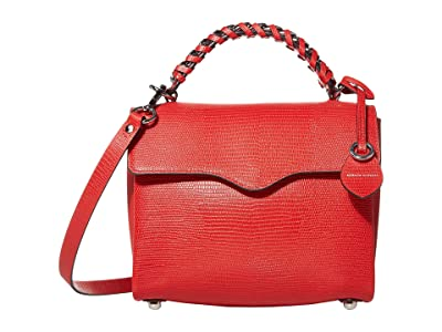 Rebecca Minkoff Chain Satchel (Tomato) Handbags