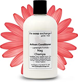 The Soap Exchange Hair Conditioner - Nag Champa Scent - Hand Crafted 12 fl oz / 354 ml Natural Artisan Hair Care, Sulfate ...