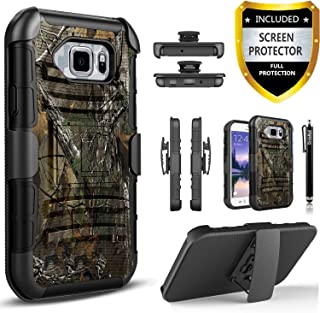 Galaxy S7 Active Case, [Not Fit Galaxy S7] Circlemalls Dual Layers [Combo Holster] And Built-In Kickstand Bundled With [Premium Screen Protector] Hybird Shockproof And Stylus Pen For Samsung Galaxy S7