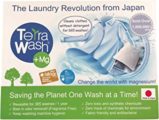 Terra Wash + Mg Eco Laundry Sachet - Detergent Substitute - Reusable for 365 Washes !