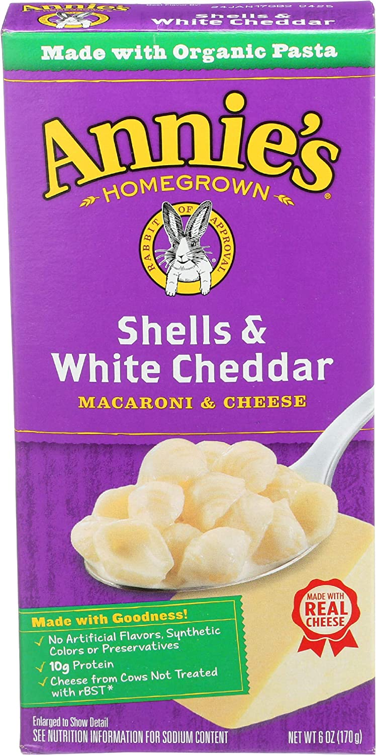 Under NEW before selling blast sales Annie's Homegrown Macaroni Cheese - 6 White Cheddar Shells