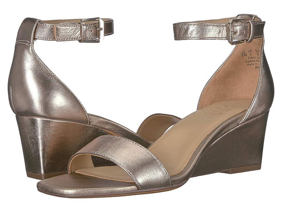 Naturalizer Zenia (Light Bronze Metallic Leather) Women's Wedge Shoes, Gold