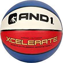 "AND1 Xcelerate Rubber Basketball: Game Ready, Official NBA Size 7 (29.5"") Streetball, Made for Indoor/Outdoor Basketball Games"