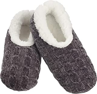 Snoozies Womens Slippers Jeweltone Chenille Slippers for Women | Womens Slipper Socks | Fuzzy Slippers with Soft Soles | Multiple Sizes and Colors