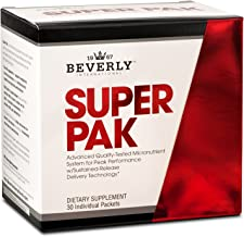Beverly International Super Pak. 30 Packs. High-Potency Multivitamin Daily Pack for maximum energy, performance, immune system health. Custom-formulated for athletes and active individuals since 1970.