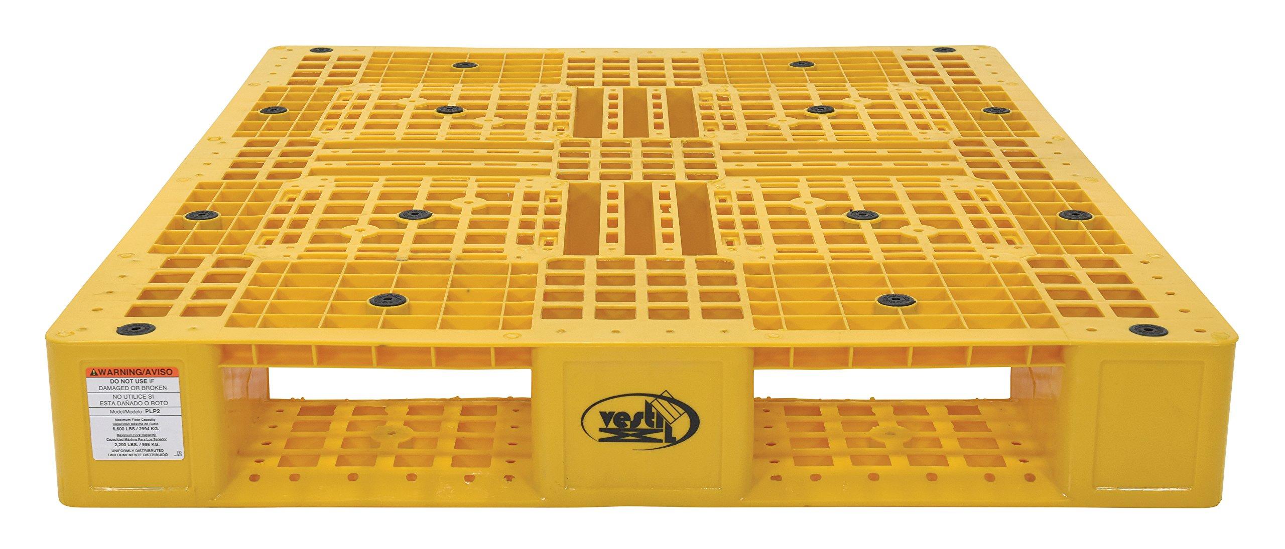 VESTIL PLP2 – 4840-yellow amarillo polietileno palet con 4 way ...