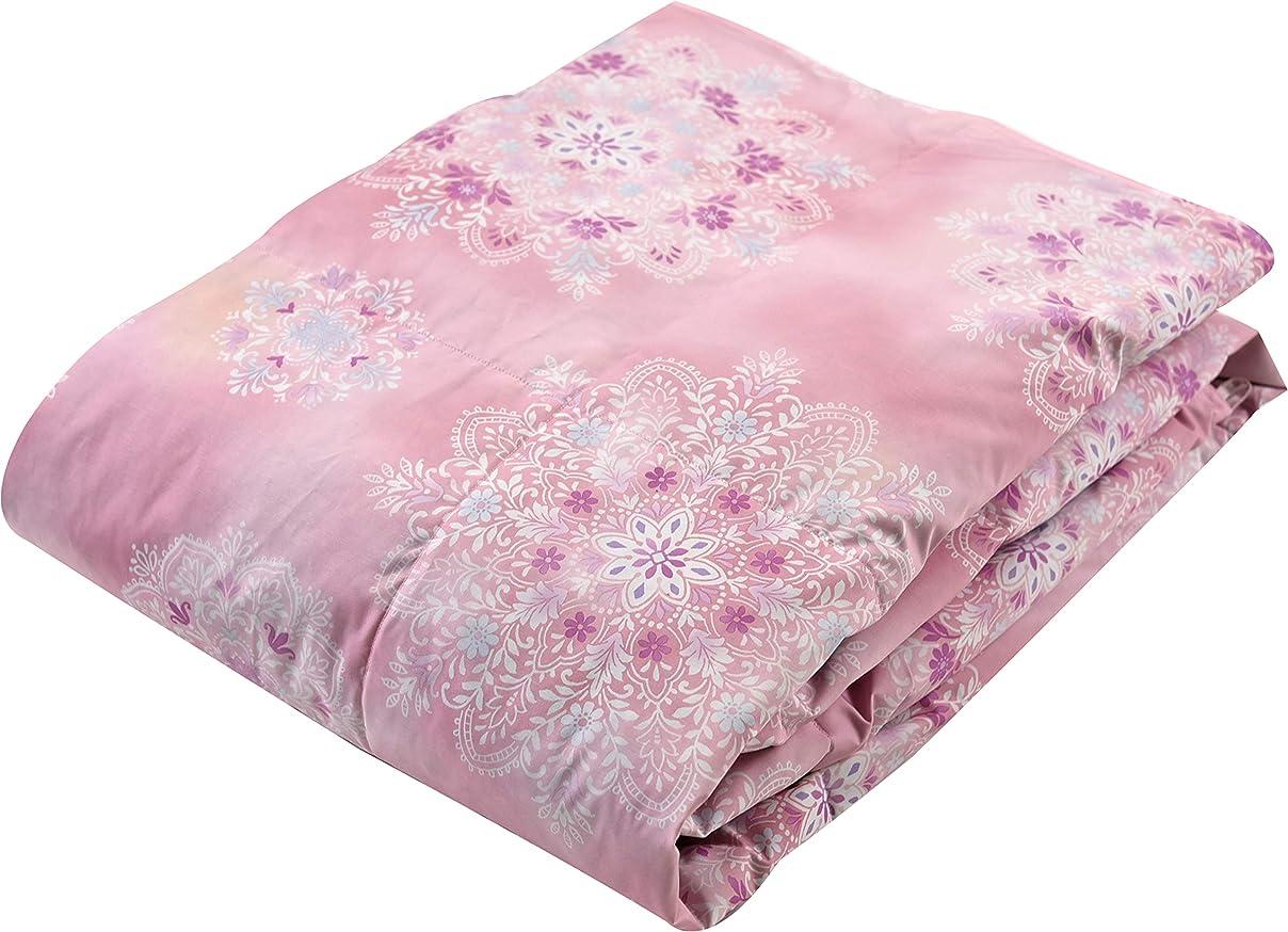 施し貨物聖なる西川(Nishikawa) 掛けふとん ピンク シングルロング150×210㎝ 洗える 羽毛肌掛けふとん ダウンケット 爽やか 4G9008N50-25