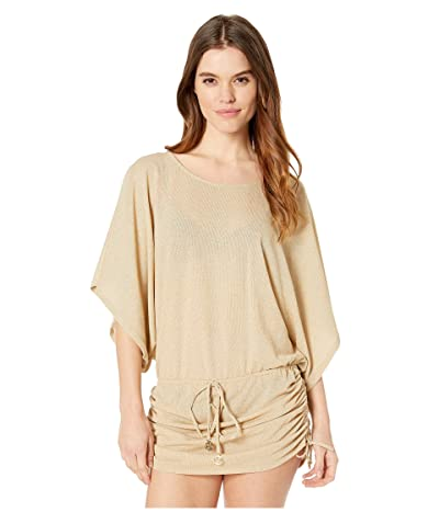 Luli Fama Cosita Buena South Beach Dress Cover-Up (Gold) Women