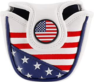 montela golf USA America Mallet Putter Cover Fit Odyssey #7 Putter Titleist Scotty Cameron