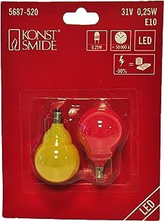 Konstsmide Ampoule LED, plastique, multicolore