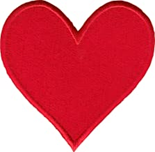 heart sew on patch