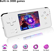 YLM Consola de Juegos portátil, Consola de Juegos Retro Consola de Juegos clásica HD Screen 3000 de 3 Pulgadas, Sistema de Entretenimiento Videojuego portátil Gran Regalo para niños (Blanco)